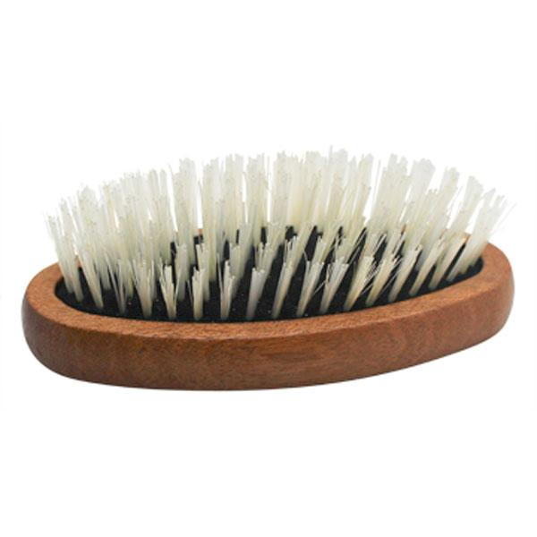 men's natural blonde bristle military style hairbrush for fine hair