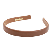 Wardani Genuine Italian Leather Headband in Classic Collection, 5/8 Inch Wide, Handmade in New York