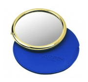 Arpin gold handbag mirror with case