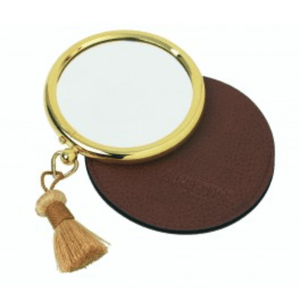 Arpin gold Handbag Magnifying Mirror with tassel in Case