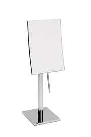 "Brot Tall Standing Square Mirror, Table Top, 7""x5"", Model 1813 AP, 3X Magnification"