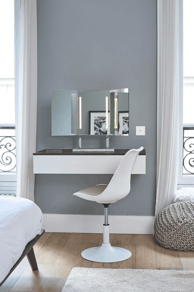 Brot STAR Vanity Lighted Mirror on Frosted Glass Base - Boyd's Madison Avenue