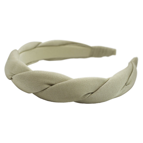 Anna Fashion twist grosgrain headband cream