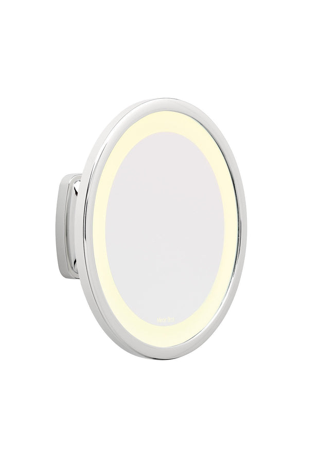 Brot Vision C 19 Wall Mounted Circular Illuminated Mirror, 19 Centimeters in Diameter