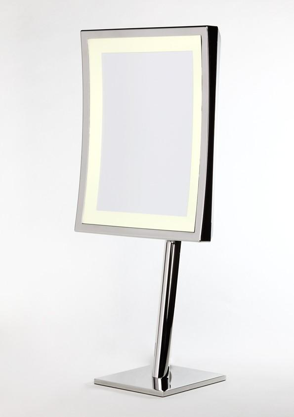 Brot SQUARE LM Illuminated Vanity Mirror on Pedestal, 9 X 7 Inches