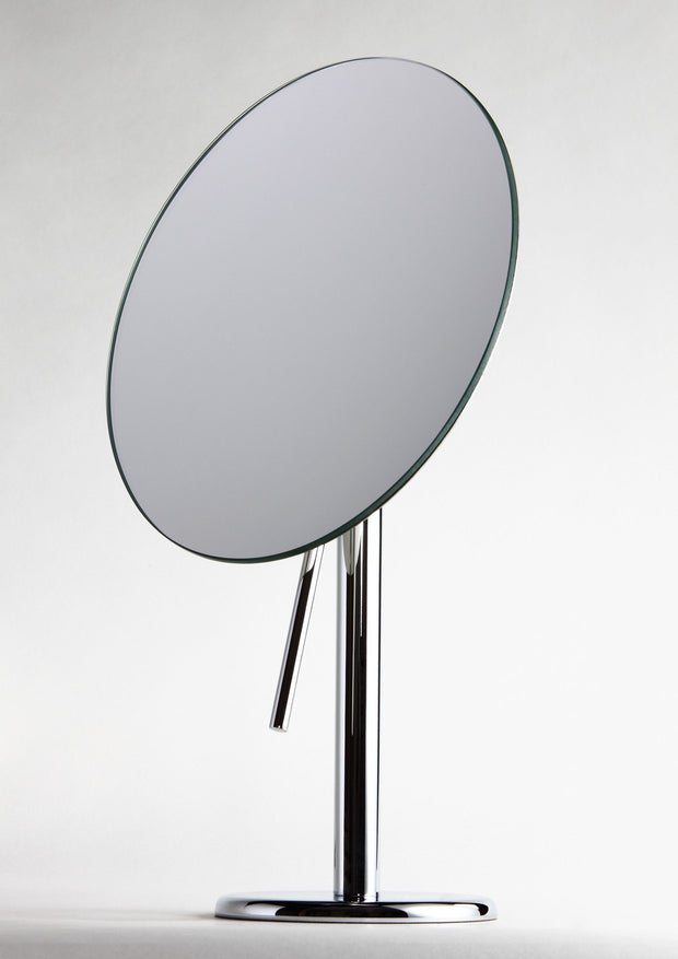 Brot ASTER Vanity Mirror on Pedestal, 9 Inch Diameter