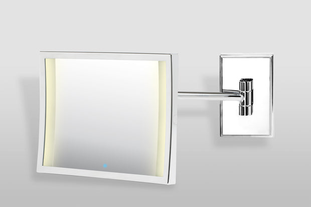 Brot Azur Illuminated Adjustable Single Arm Mirror 3X Magnification,  7 X 9 Inches