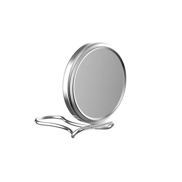 "Frasco Double Sided Purse Mirror With Folding Stand, 2.75"" Diameter , 5X Magnification"