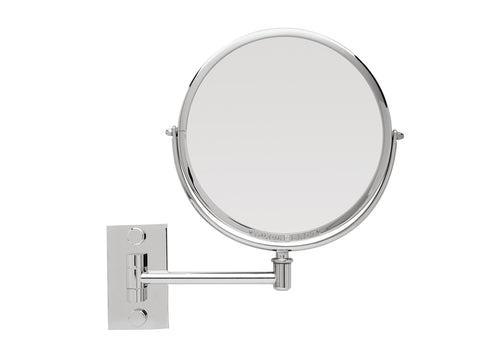 Brot EMERAUDE 19 Single Arm  Wall Mounted Adjustable Mirror, 7 1/2 Inch Diameter