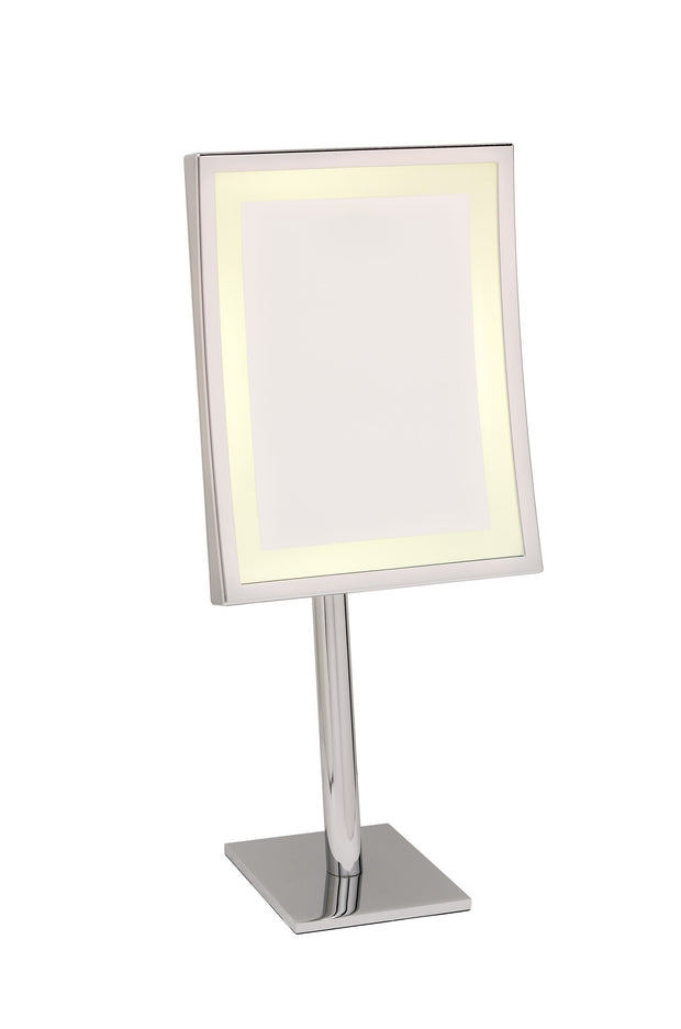 Brot SQUARE LM Illuminated Vanity Mirror on Pedestal, 9 X 7 Inches - Boyd's Madison Avenue