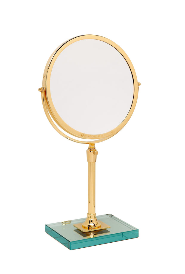 Brot IMAGE 24 Reversible Mirror on a Glass Base, 9 1/2 Inch Diameter