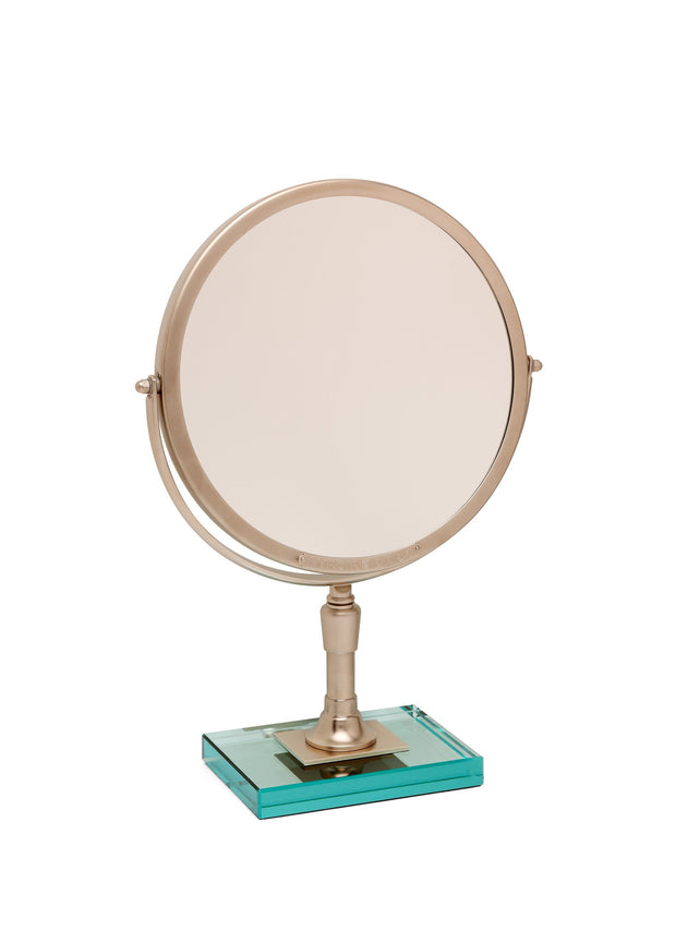 Brot IMAGINE 24 Reversible Mirror on a Glass Base, 9 1/2 Inch Diameter