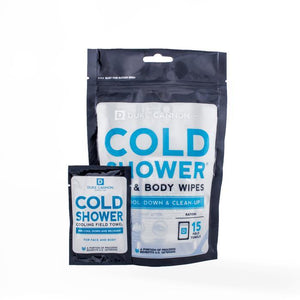 Cold Shower Face & Body Wipes, 15 Towel Pack