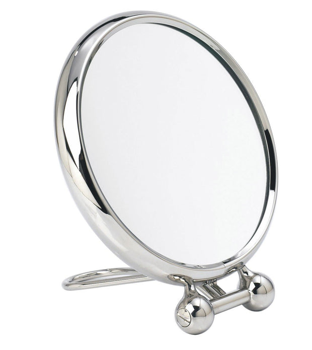Arpin nickel magnifying travel mirror