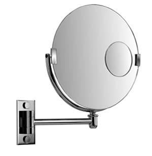 Brot REFLET 35 Wall Mounted Adjustable Mirror with Magnifying Insert, 14 Inches in Diameter