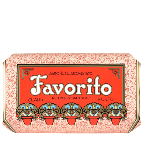 Claus Porto Favorito Red Poppy, 12.4 oz. Bath Soap