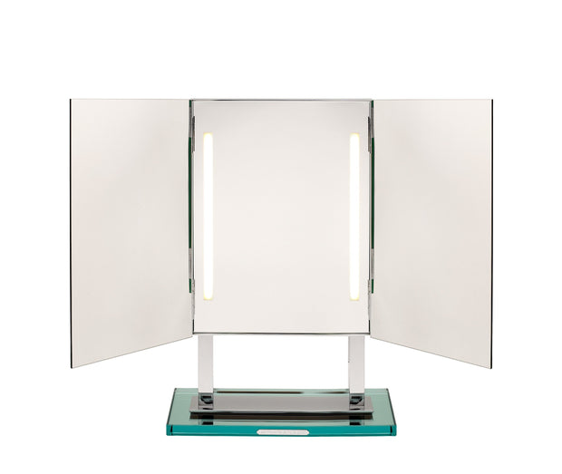 Brot STAR Vanity Lighted Mirror on Frosted Glass Base