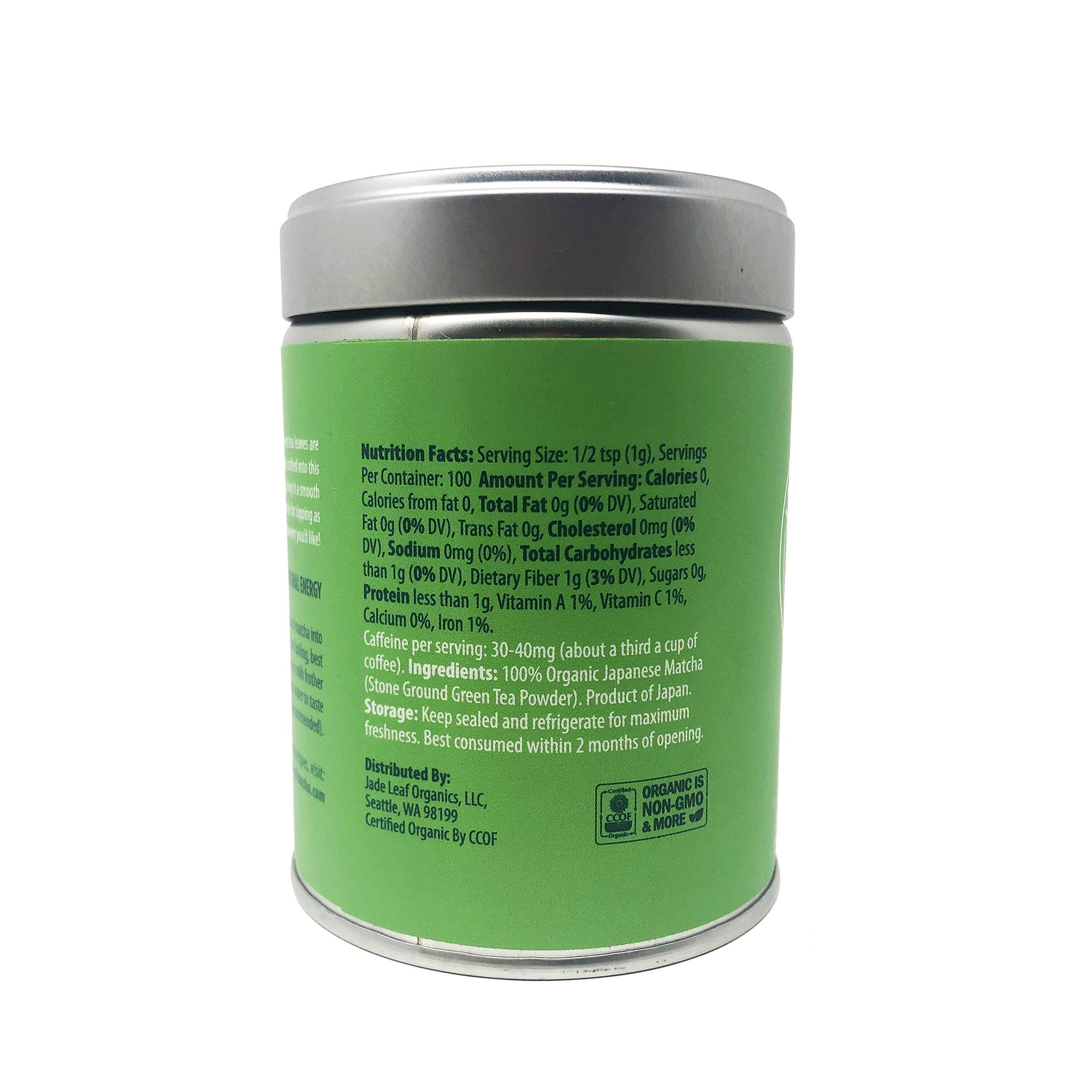 Jade Leaf Matcha Green Tea Powder - USDA Organic, 3 5 Oz