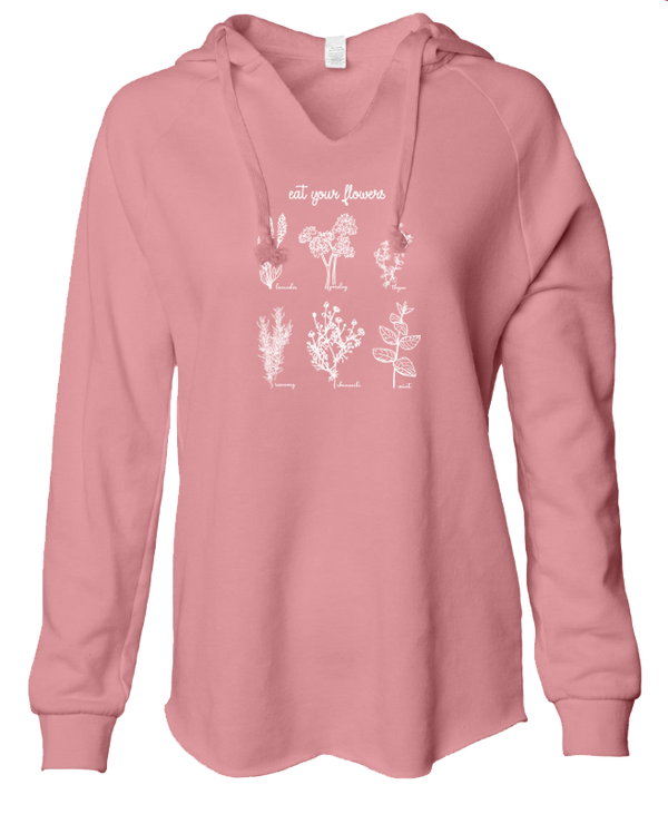 Eat Your Flowers - LADIES Lightweight Hooded Sweatshirt