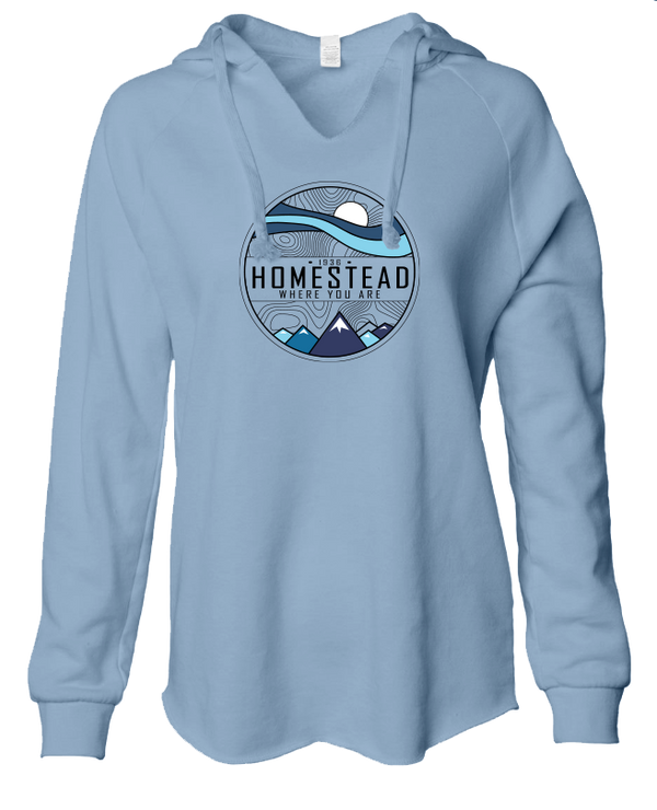 Homestead Where You Are - LADIES Lightweight Hooded Sweatshirt