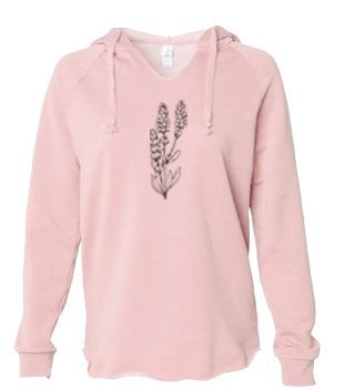 Lavender - LADIES Lightweight Hooded Sweatshirt