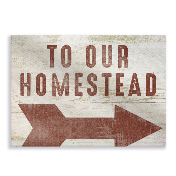 To Our Homestead Stretched Canvas Gallery Wrap
