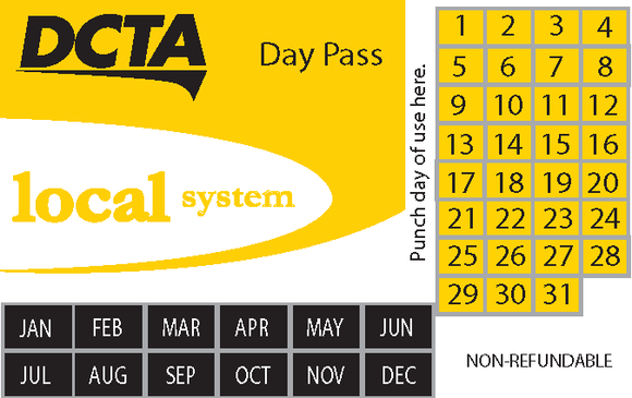 Local System 10-Day Pass Book