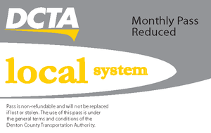 Local System Reduced Monthly Pass