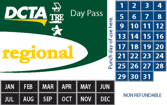 Regional 10-Day Pass Book