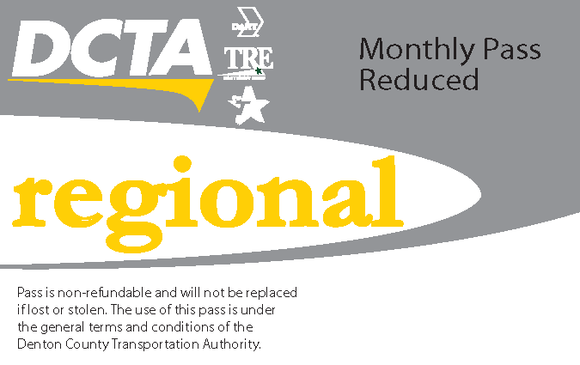 Regional Reduced Monthly Pass