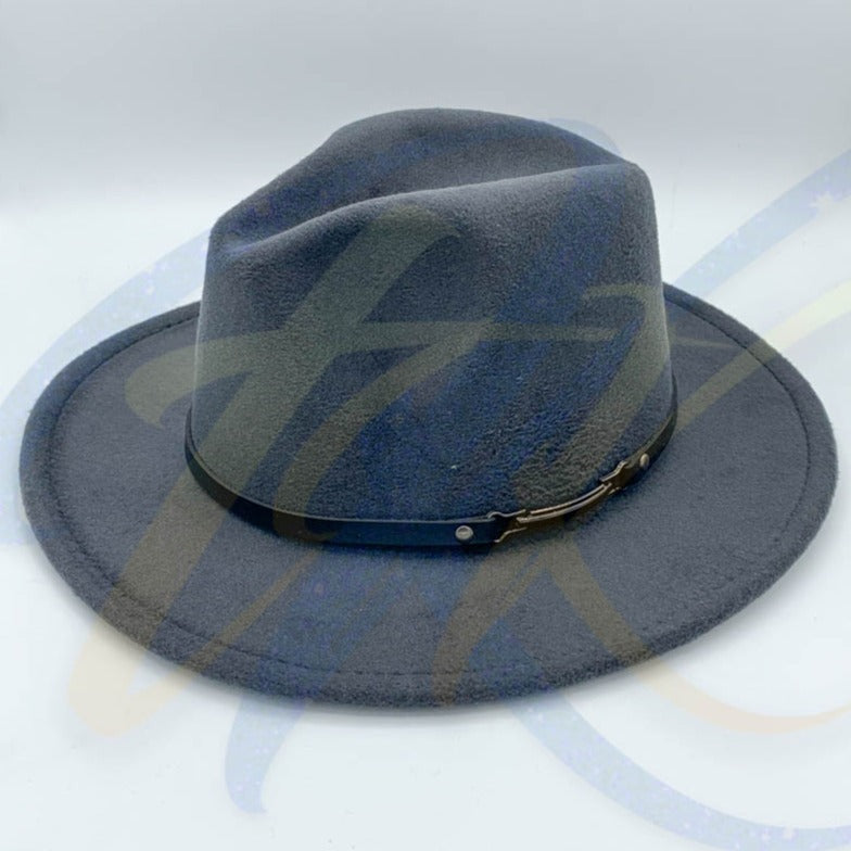 Fedora - Grey with Black Buckle