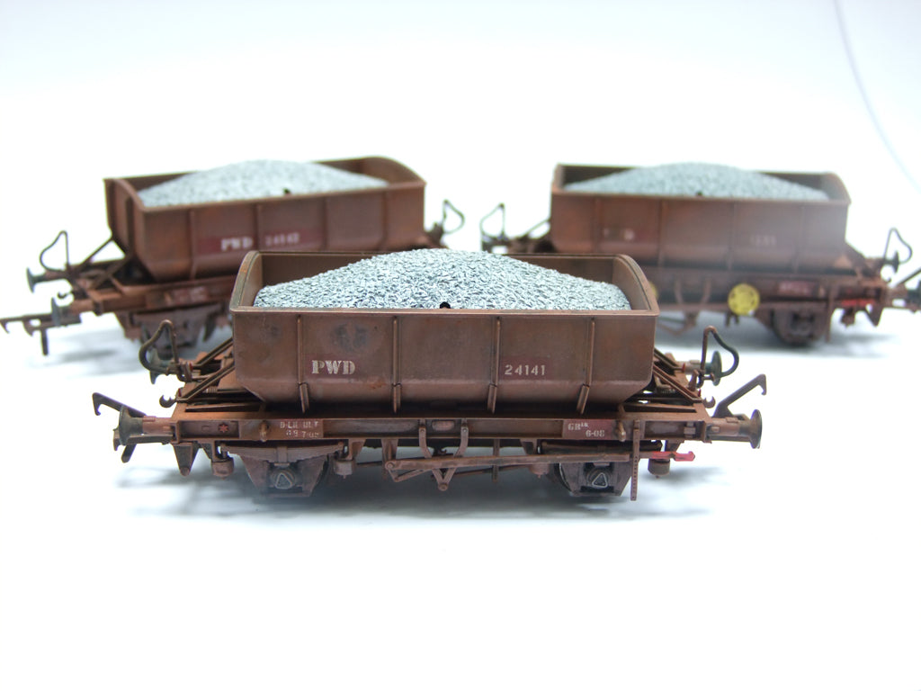 Weathered Ballast Wagon examples!