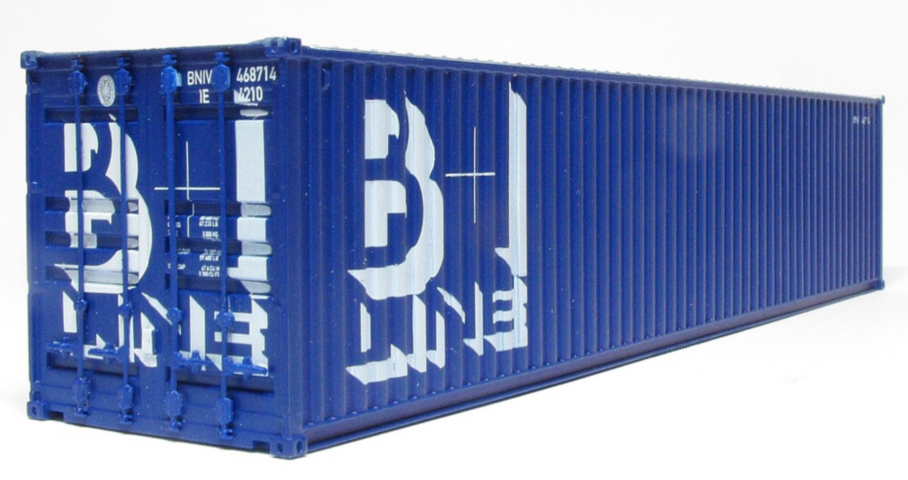 CIÉ/IR 42' Flat - Twin Pack - with 2 B&I 40' Containers - B