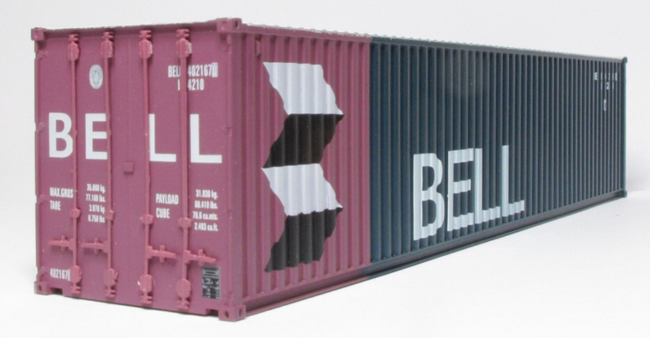 CIÉ/IR 42' Flat - Twin Pack - with 2 Bell 40' Containers - A