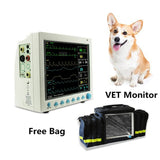 JYTOP CMS8000VET Veterinary Patient Monitor Vital Signs 6 parameter +Free bag