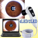 JYTOP 500 MP 4 LED /2 LED DigitaI Iriscope Iridology USB camera Iris analyzer EH660U