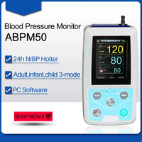 JYTOP Ambulatory Blood Pressure Monitor NIBP Holter ABPM50 USB Software 24 Hour Record