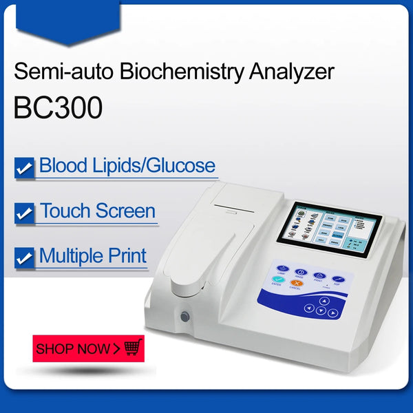 JYTOP BC300 Semi-automatic Blood Biochemistry Analyzer Touch Screen, Printer