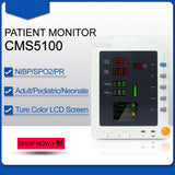 JYTOP CMS5100 Vital Signs Monitor CCU ICU Patient Monitor,NIBP / SPO2 / PR