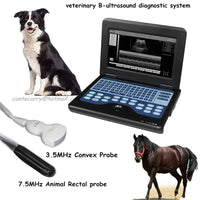 JYTOP VET Veterinary Ultrasound Scanner Laptop Machine+animal Rectal+convex 2 Probes CMS600P2VET