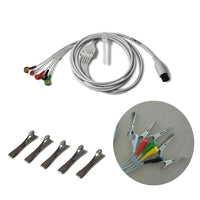 JYTOP 6 PIN 5 lead Veterinary ECG CABLE with Clip for patient Monitor CMS8000VET