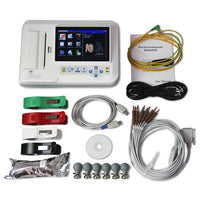 JYTOP ECG600G Digital 6 Channel ECG EKG Machine Portable Electrocardiograph USB Touch screen Software