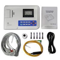 JYTOP Veterinary One Channel 12 Leads Portable ECG EKG Machine ECG100G VET,Printer
