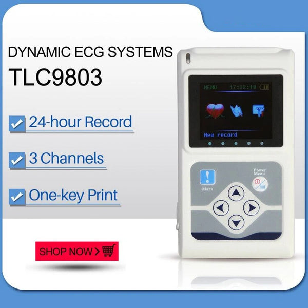 JYTOP TLC9803 Dynamic ECG Systems Digital 3-lead 24-hour Analyzer Recorder System