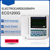 JYTOP ECG1200G Digital 12 channel/lead EKG+PC Sync software, Electrocardiograph Touch Screen
