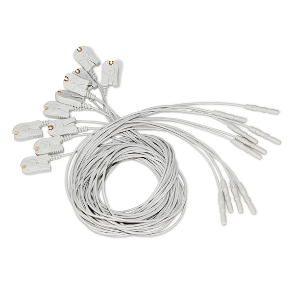 JYTOP 10pcs(1 set) EEG cable Brain leadwire FOR EEG Mapping system KT88 1016/2400/3200