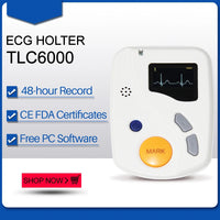 JYTOP TLC6000 Dynamic 12 Channel 48 hours ECG/EKG Holter Recorder Systems Monitor Software Analyzer