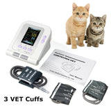 JYTOP Veterinary 3 free cuffs Digital Blood Pressure Monitor Color LCD Display NIBP CONTEC08A