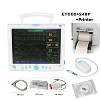JYTOP CMS9000 Capnograph CO2 monitor Vital Signs ICU/CCU Patient Monitor 2-IBP+Printer