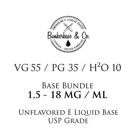 500 - 1000 ml VG 55 / PG 35 / H²O 10 Nicotine Base Bundle 3 - 12 MG / ML